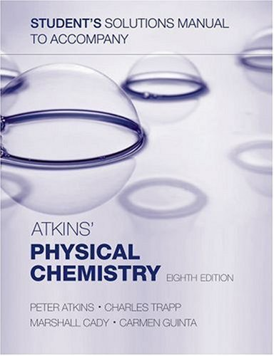 9780199288588: Student's Solutions Manual to Accompany Atkins' Physical Chemistry, Eighth Edition