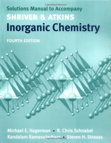 9780199288595: Solutions manual to accompany Shriver and Atkins Inorganic Chemistry 4/e