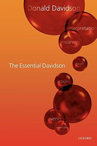 The Essential Davidson: Donald Davidson; Introduction-Ernie