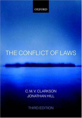 9780199289134: The Conflict of Laws