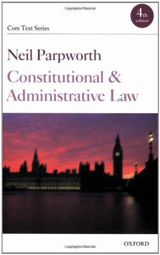 9780199289417: Constitutional and Administrative Law (Core Texts Series)
