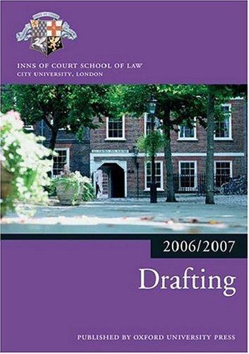 9780199289516: Drafting 2006-07 (Blackstone Bar Manual)