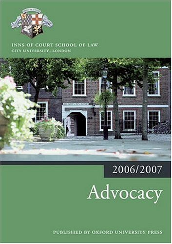 9780199289561: Advocacy 2006-07 (Blackstone Bar Manual)