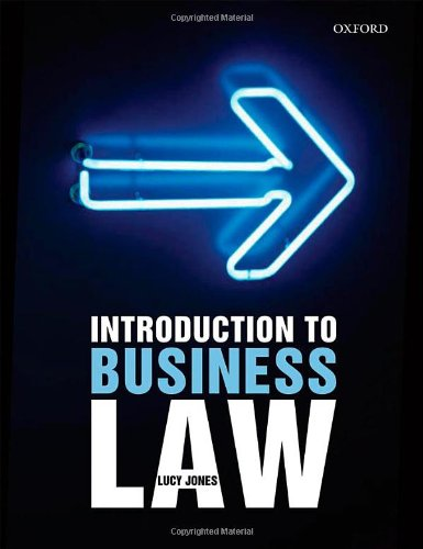 Introduction to Business Law: Jones, Lucy