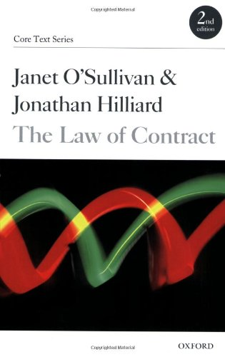 9780199290321: The Law of Contract (Core Text Series)