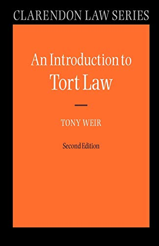 9780199290376: An Introduction to Tort Law (Clarendon Law Series)