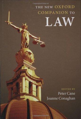 9780199290543: The New Oxford Companion to Law (Oxford Companions)