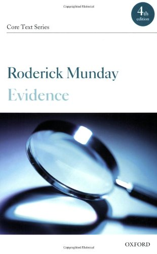 9780199291380: Evidence (Core Texts Series)