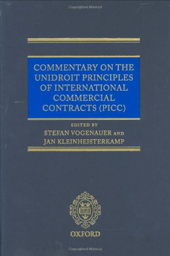 9780199291755: Commentary on the UNIDROIT Principles of International Commercial Contracts (0)