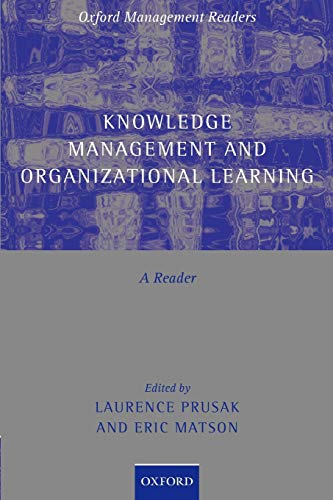 9780199291809: Knowledge Management and Organizational Learning: A Reader (Oxford Management Readers)