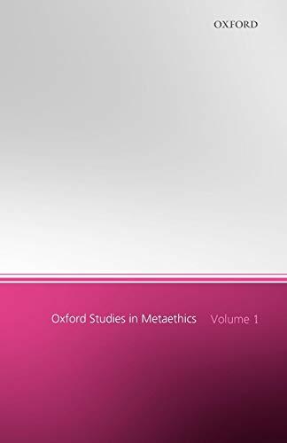 9780199291892: Oxford Studies in Metaethics: Volume 1