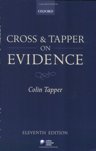 9780199292004: Cross and Tapper on Evidence