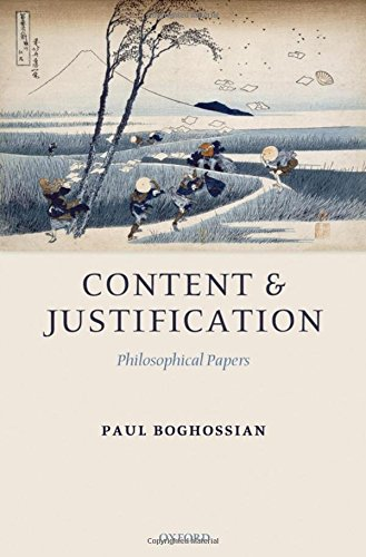 9780199292103: Content and Justification: Philosophical Papers