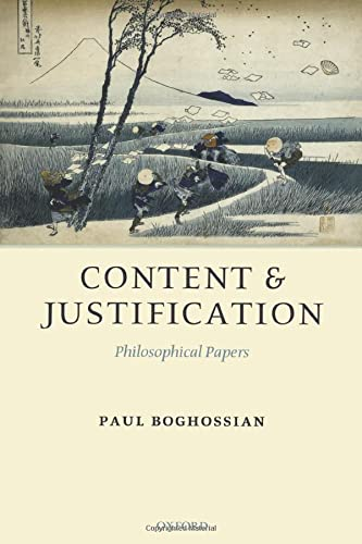 9780199292165: Content and Justification: Philosophical Papers