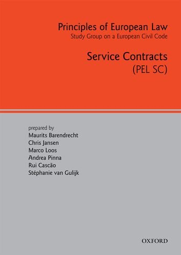 9780199296002: Principles of European Law: Volume 2: Service Contracts (European Civil Code) (v. 2)