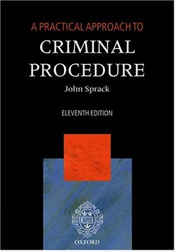9780199298303: A Practical Approach to Criminal Procedure