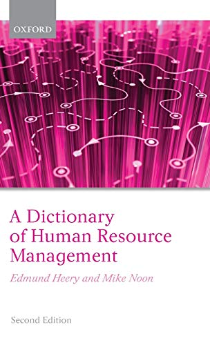 9780199298754: A Dictionary of Human Resource Management