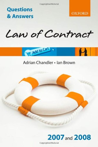 9780199299553: Q and A: Law of Contract 2007 - 2008 (Blackstone's Law Questions and Answers)
