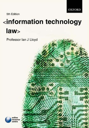 9780199299775: Information Technology Law