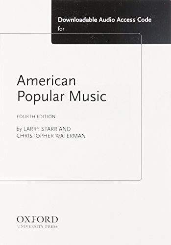 9780199316694: American Popular Music MP3 Download Access Card