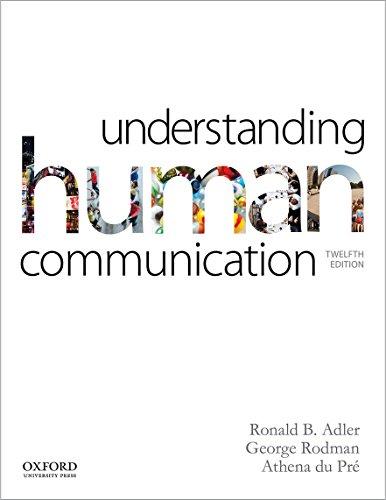 Understanding Human Communication: Adler, Ronald B.,