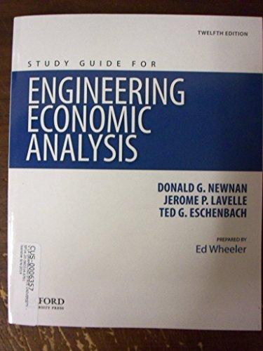9780199339341: Engineering Economic Analysis, Study Guide