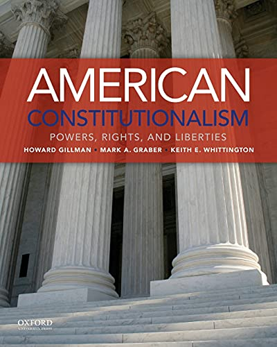 9780199343386: American Constitutionalism: Powers, Rights, and Liberties
