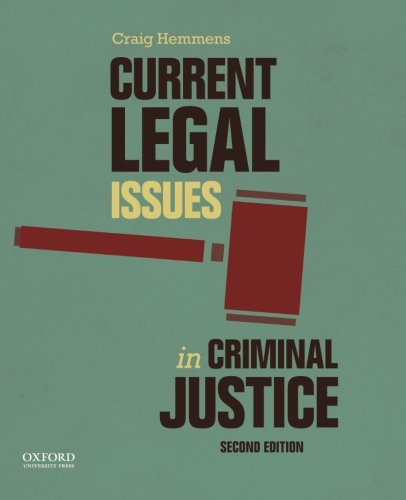 9780199355334: Current Legal Issues in Criminal Justice: Readings