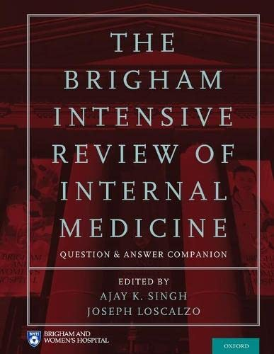 9780199358496: The Brigham Intensive Review of Internal Medicine Question and Answer Companion
