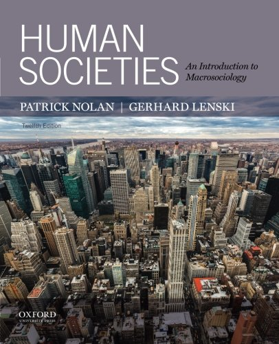 9780199382453: Human Societies: An Introduction to Macrosociology