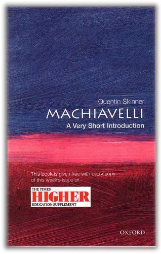 9780199504640: MACHIAVELLI: A VERY SHORT INTRODUCTION.