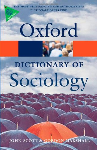 9780199533008: A Dictionary of Sociology (Oxford Paperback Reference)