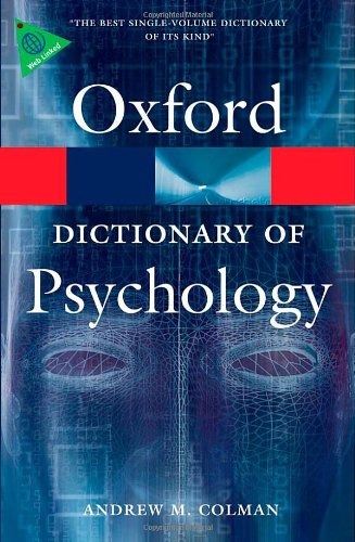 9780199534067: A Dictionary of Psychology (Oxford Quick Reference)