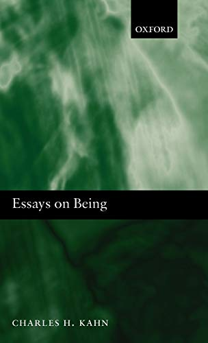 9780199534807: Essays on Being