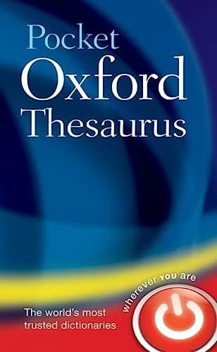 9780199534821: Pocket Oxford Thesaurus