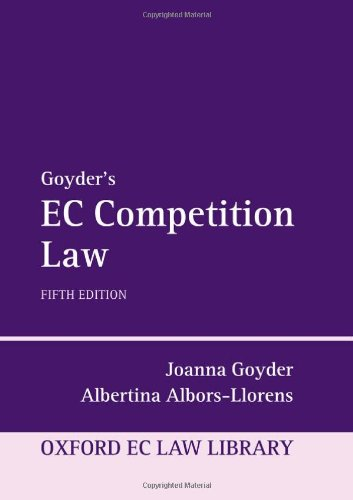 9780199535316: Goyder's EC Competition Law (Oxford European Union Law Library)