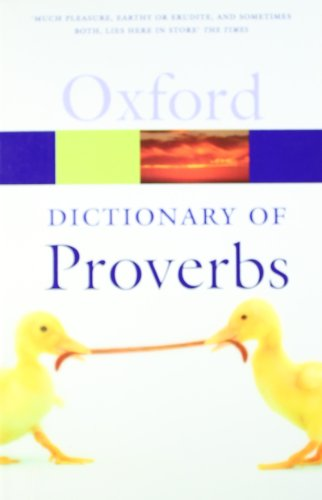 9780199539536: A Dictionary of Proverbs (Oxford Quick Reference)