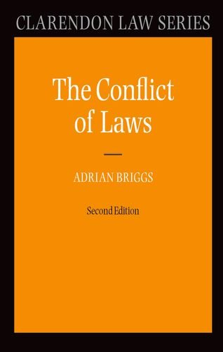The conflict of laws. 2nd [rev.] edition.: Briggs, Adrian.