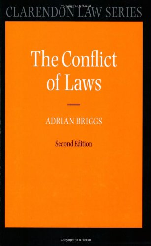 9780199539673: The Conflict of Laws (Clarendon Law Series)