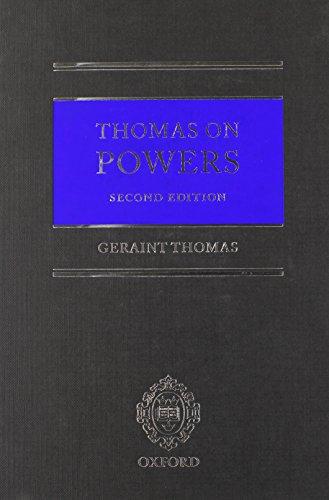 9780199539697: Thomas on Powers