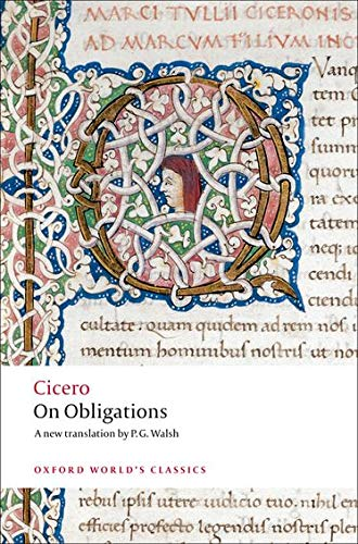 9780199540716: On Obligations De Officiis (Oxford World's Classics)