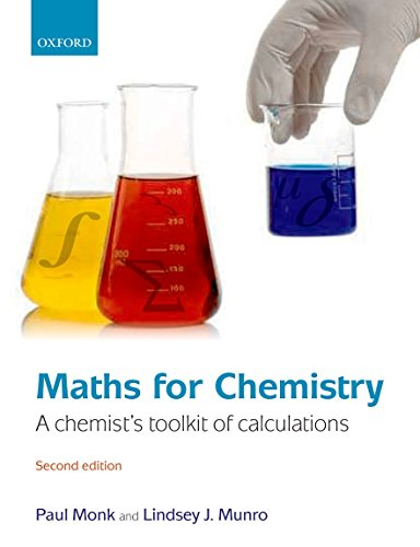 9780199541294: Maths for Chemistry: A chemist's toolkit of calculations