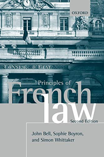 9780199541393: Principles of French Law