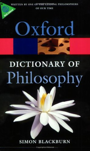 9780199541430: The Oxford Dictionary of Philosophy (Oxford Quick Reference)