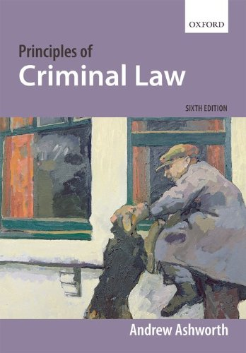 9780199541973: Principles of Criminal Law