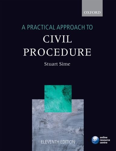 9780199542536: A Practical Approach to Civil Procedure