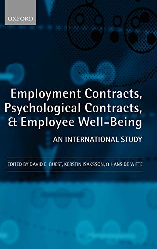 9780199542697: Employment Contracts, Psychological Contracts, and employee well-being: An International Study