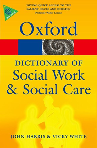 9780199543052: A Dictionary of Social Work and Social Care (Oxford Quick Reference)