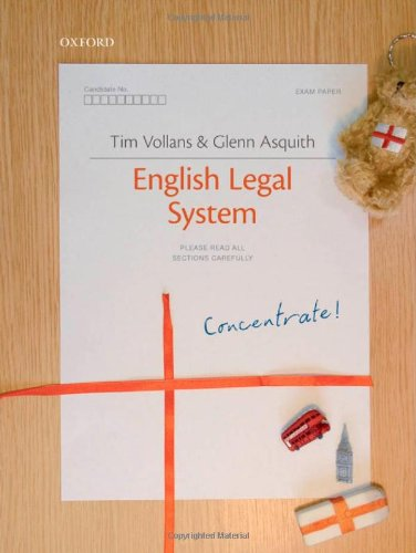 9780199543526: English Legal System Concentrate