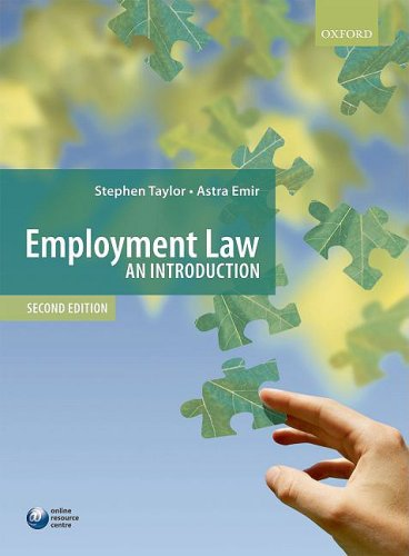 9780199543922: Employment Law